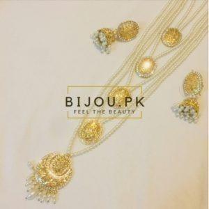 Indian Kundan wedding wear Maaala/haar complete handmade set
