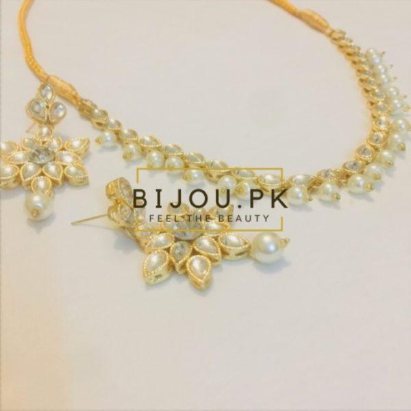 kundan necklace set for women