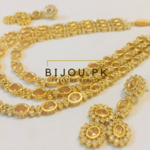 Champagne Kundan Mala for Women
