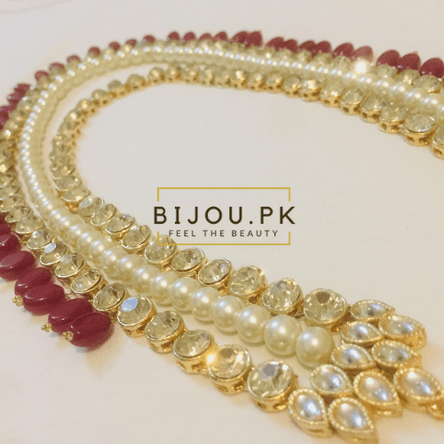 Precious Kundan Mala Necklace Online Shopping in Pakistan