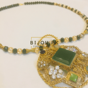 Medieval Emerald Mala Necklace & Pendant for women in Pakistan