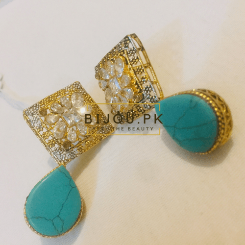 Ladies Feroza Earrings free delivery in Pakistan