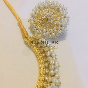 pearl necklace earrings
