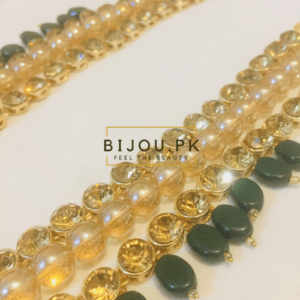 Exquisite Ruby Kundan Mala Necklace for women in Karachi