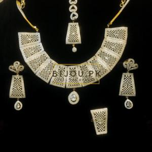 GoldPlated Zircon Necklace Set for women in Pakistan