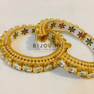 Gold Plated Kundan Bangles