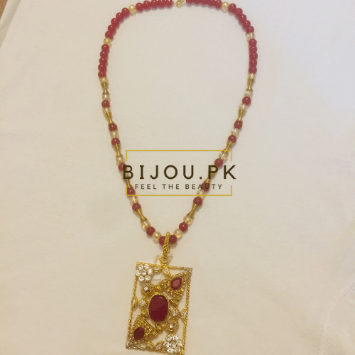 Ethnic Ruby Mala Necklace for women in Pakistan