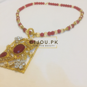 Ethnic Ruby Mala Necklace for women in Pakistan