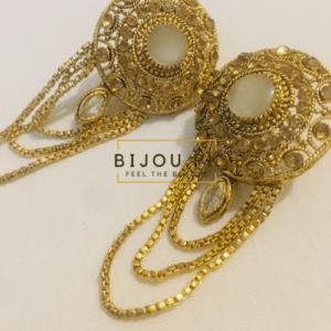 White Onyx Dangle Earrings