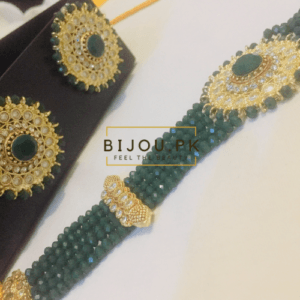 Emerald Choker set for ladies