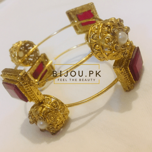 Traditional Dim Golden Bangles online shopping in pakistan free delivery
