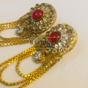 CZ & Ruby Dangle Earrings for women in Pakistan