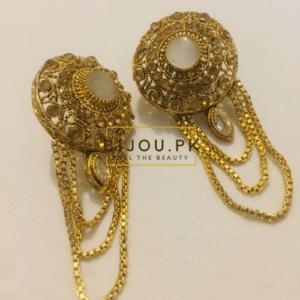 White Onyx Dangle Earrings for women in Pakistan