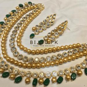 Golden Pearl Kundan Mala