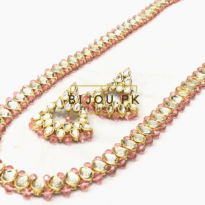 Artificial Pink Mala Necklace Party wear
